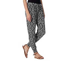 Red Herring - Black aztec pants