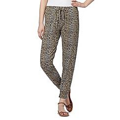 Red Herring - Brown animal print jersey trousers