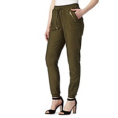 Red Herring - Khaki cuffed utility trousers