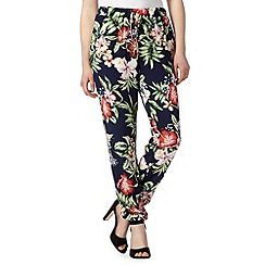 Red Herring - Navy floral print trousers