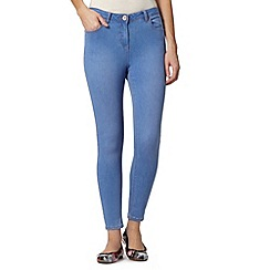 Red Herring - Mid blue 'Holly' super skinny denim ankle grazer jeans
