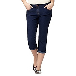 Red Herring - Dark blue denim cropped 'Lulu' skinny jeans