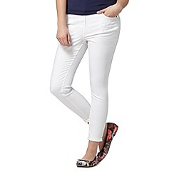 Red Herring - White ankle grazing 'Holly' super-skinny jeans