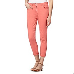 Red Herring - Peach ankle grazer 'Holly' super skinny jeans