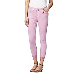 Red Herring - Lilac ankle grazer 'Holly' super skinny jeans
