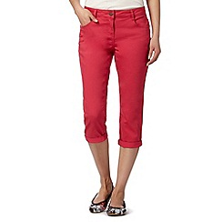 Red Herring - Pink cropped 'Lulu' skinny jeans