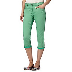Red Herring - Green cropped 'Lulu' skinny jeans