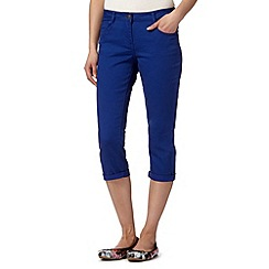 Red Herring - Bright blue cropped 'Lulu' skinny jeans