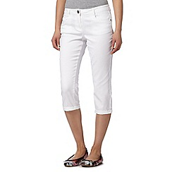 Red Herring - White cropped 'Lulu' skinny jeans