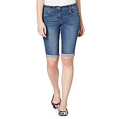 Red Herring - Mid blue knee length denim shorts