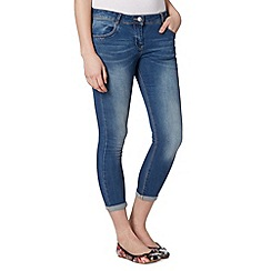 Red Herring - Mid blue ankle grazer skinny jeans