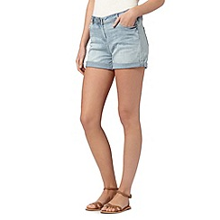 Red Herring - Light blue vintage wash denim shorts