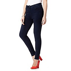Red Herring - Dark blue zip super skinny jeans