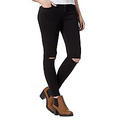Red Herring - Black ripped knee super skinny jeans
