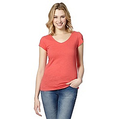 Red Herring - Light peach V neck top