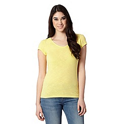 Red Herring - Yellow plain slub t-shirt