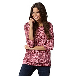 Red Herring - Pink butterfly pleat top
