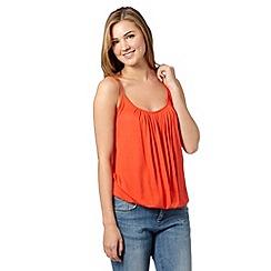Red Herring - Dark orange bubble camisole