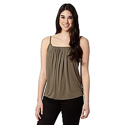 Red Herring - Khaki cami top