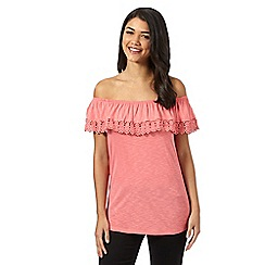 Red Herring - Rose crochet gypsy top