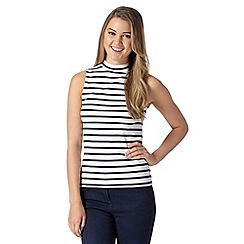Red Herring - Ivory striped turtle neck top