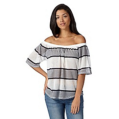 Red Herring - White striped knitted gypsy top