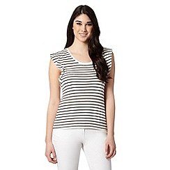 Red Herring - Ivory striped top