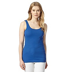 Red Herring - Bright blue ribbed scoop neck vest