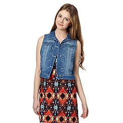 Red Herring - Light blue denim sleeveless jacket