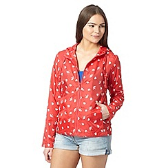 Red Herring - Red umbrella print pac a mac