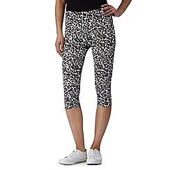 Red Herring - Black animal print crop leggings