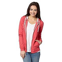 Red Herring - Peach zip through hoodie