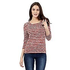 Red Herring - Dark red zip shoulder jumper