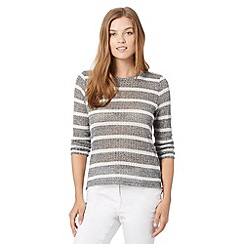 Red Herring - Grey striped fine knit top