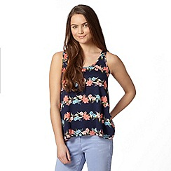 Red Herring - Navy floral print vest