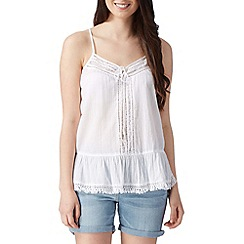 Red Herring - White lace fringe trim camisole