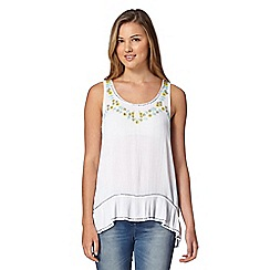 Red Herring - White bead embellished camisole