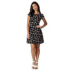 Red Herring - Black butterfly print skater dress