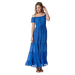Red Herring - Blue bardot maxi dress