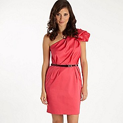 Red Herring - Special Edition - bright pink structured one-shoulder dress