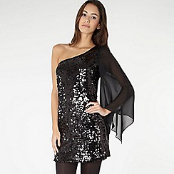 Red Herring - Special Edition - black sequin one shoulder dress