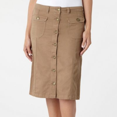 Camel Denim Skirt