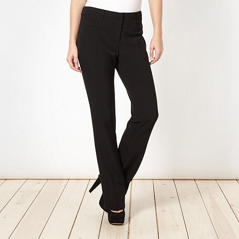 Red Herring - Black +Pablo+ bootcut trousers