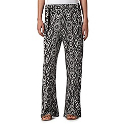 Red Herring - Aztec Print Jersey Cuff Trouser