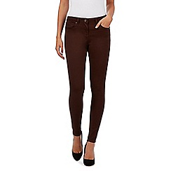 Red Herring - Dark brown 'Holly' super skinny jeans