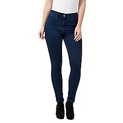 Red Herring - Dark blue 'Heidi' high-waisted skinny jeans