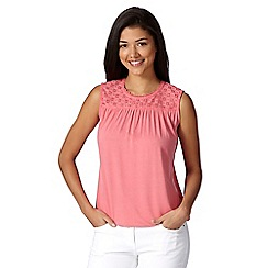 Red Herring - Rose lace yoke vest top