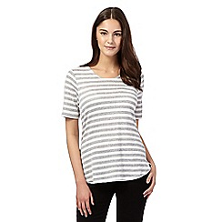 Red Herring - Navy striped longline top