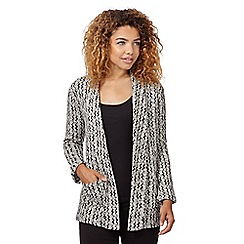 Red Herring - Black zig zag cut and sew jacket