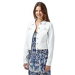 Red Herring - White long sleeved denim jacket